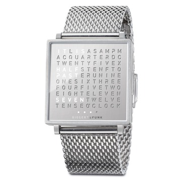Qlocktwo Fine Steel Wrist Watch