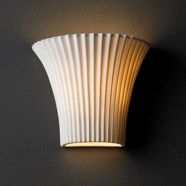 Round Flared Limoges Wall Sconce by Justice Design | por-8810-plet