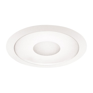 242 Series 6 Inch Frosted/Clear Lensed Shower Trim by Juno Lighting | 242WH