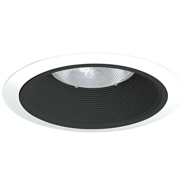 24 Series 6 Inch Tapered Black Baffle Downlight Trim by Juno Lighting | 24b-wh