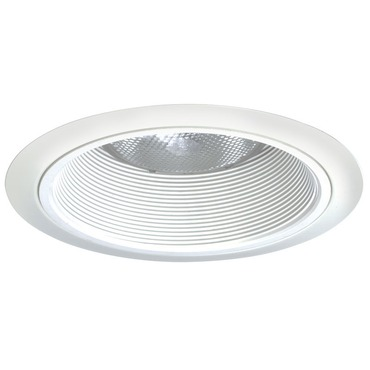 24 Series 6 Inch Tapered White Baffle Downlight Trim by Juno Lighting | 24w-wh