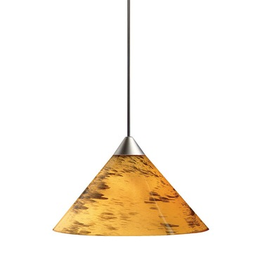 Decorative Low Voltage Short Cone Glass Pendant by Juno Lighting | tlp310amberdrift