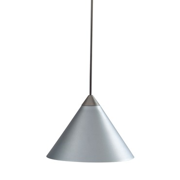 Decorative Low Voltage Short Cone Metal Pendant by Juno Lighting | TLP311SILVER