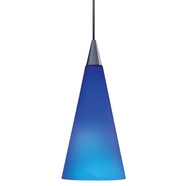 TLP312 Decorative Tall Cone Glass Shade by Juno Lighting | TLP312COBALT