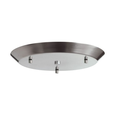 Line Voltage Cluster Round Canopy Satin Nickel