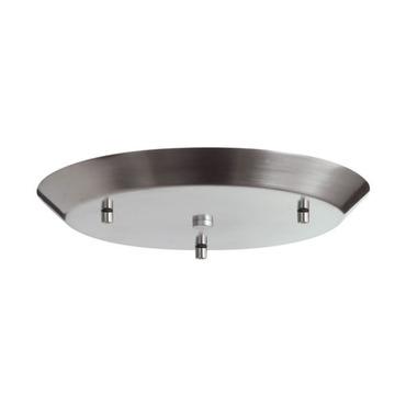 Line Voltage Cluster Round Canopy Satin Nickel