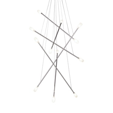 Batons 12 Light Chandelier