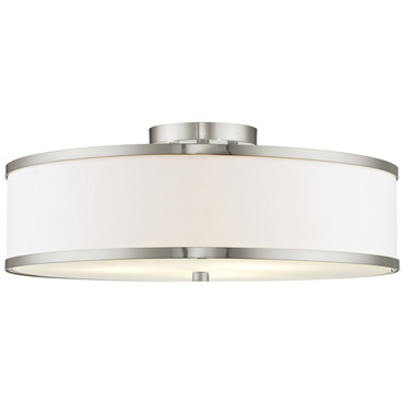 Park ridge white semi flush ceiling