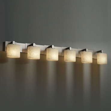 Modular Oval 6 Light Bath Bar