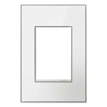 Mirror White 1 Gang 3 Module Wall Plate
