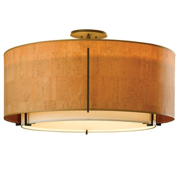 Exos Large Double Shade Round Semi Flush Mount