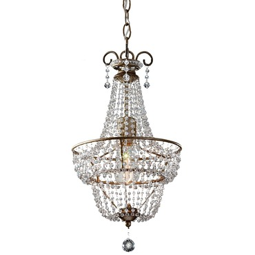 Dutchess 1 Light Chandelier with Vintage-Style Bulb