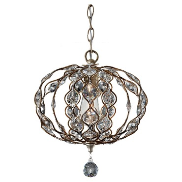 Leila Chandelier with Antique Bulb
