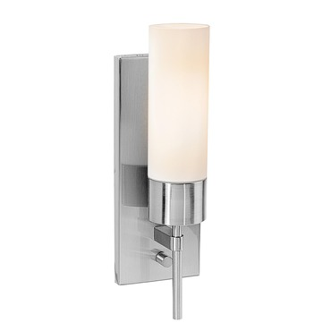 Iron Brushed Steel Wall Sconce