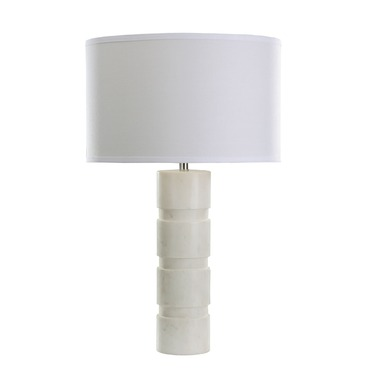 Round Stacked Marble Table Lamp