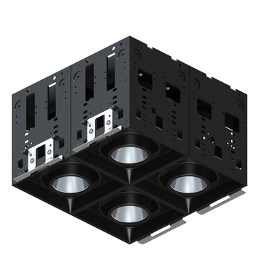 Modul-Aim Square Crisp White Non-IC Remodel Housing