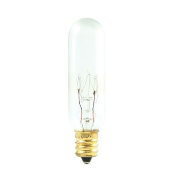 T6 Candelabra Base Specialty Tube 25W 120V 2700K by Bulbrite | 707125