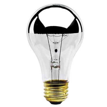 A19 Medium Base Half Chrome 60W 120V by Bulbrite | 712160