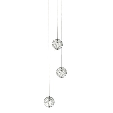 Bubble Ball 3 Light Round LED Multi-Light Pendant
