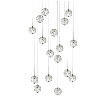 Bubble Ball 17 Light Round LED Multi-Light Pendant