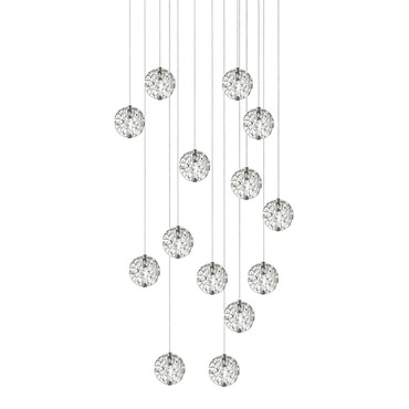 Bubble Ball 14 Light LED Linear Pendant