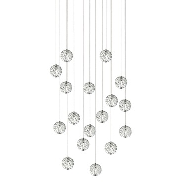 Bubble Ball 17 Light Linear LED Multi-Light Pendant