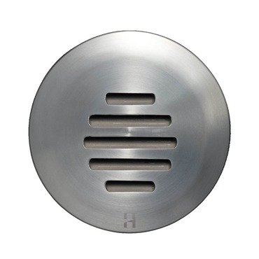Step Light Outdoor Louvre Round by Hunza Lighting   SLLUss
