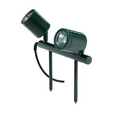 Twin Bar Outdoor Spot Light by Hunza Lighting | TBLbk