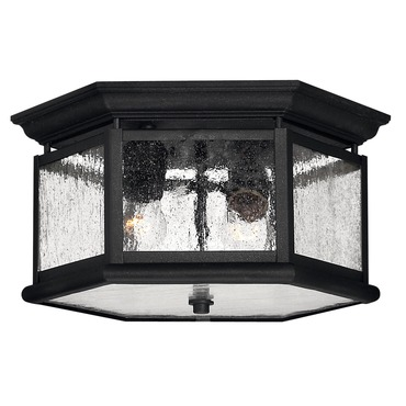 Edgewater Exterior Ceiling Mount by Hinkley Lighting | 1683BK