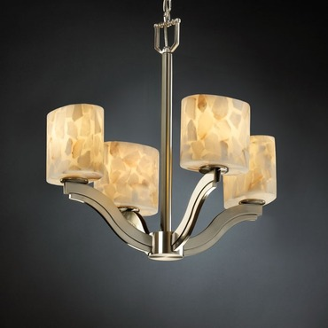 Alabaster Rocks Bend Chandelier