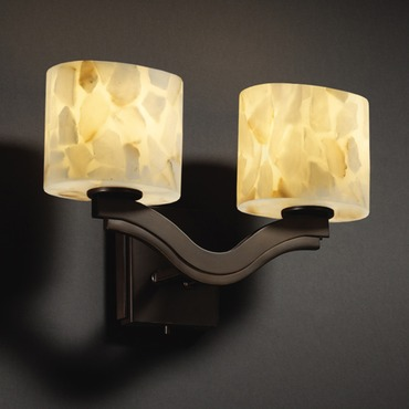 Alabaster Rocks Bend Wall Sconce