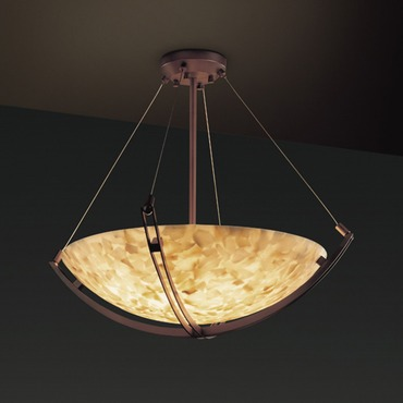 Alabaster Rocks Extra Large Crossbar Pendant