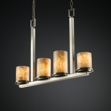 Dakota Alabaster Rocks Linear Chandelier