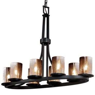 Mercury Dakota Oval Chandelier