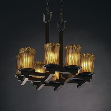 Dakota Zig-Zag Glass Chandelier