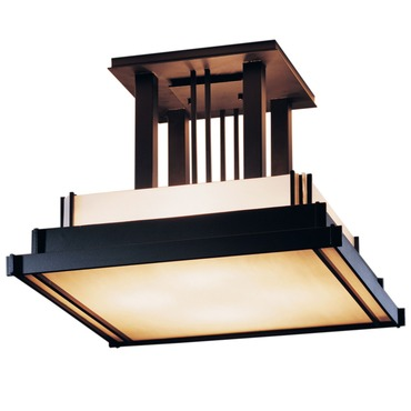 Steppe Square Semi Flush Mount by Hubbardton Forge | 123715-10-B416