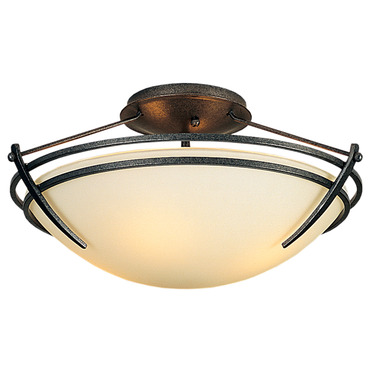 Presidio Tryne Small Semi Flush Ceiling Mount by Hubbardton Forge | 124412-20-G47