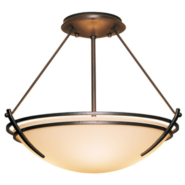 Presidio Tryne Semi Flush Ceiling Light by Hubbardton Forge | 124432-05-G20