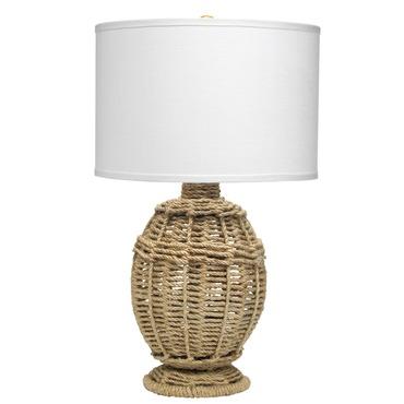 Jute Urn Small Table Lamp