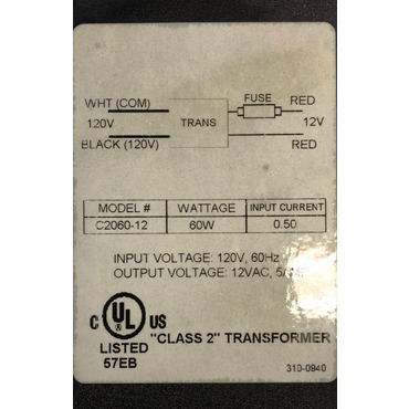 AT60 Class 2 60W 12V Magnetic Transformer by Raise Lighting | AT60