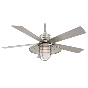 Rainman Ceiling Fan with Light by Minka Aire | F582-BNW