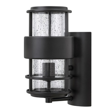 Saturn Outdoor Wall Light Satin Black