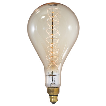 Grand Nostalgic Med Base 60W 120V Antique Spiral