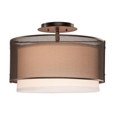 Uptown Mesh Semi Flush Ceiling Light