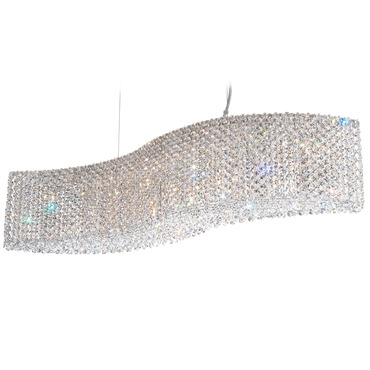 Refrax Wave Linear Chandelier by Schonbek | re3214a