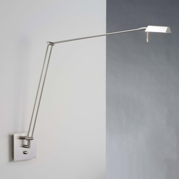 Bernie Extended Swing Arm Wall Sconce by Holtkoetter | 8192 SN