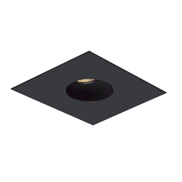 1X1 Round on Square Flanged Trim  by Element by Tech Lighting | EMT11RFF-B