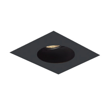 1X1 Round on Square Flangeless Trim  by Element by Tech Lighting | EMT11RLF-B