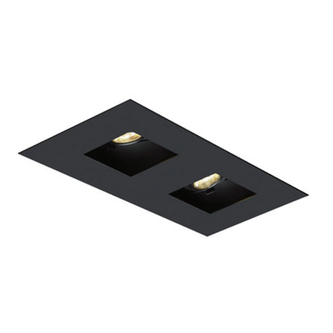 1X2 Square on Square Flanged Trim  by Element by Tech Lighting | EMT12SFF-B