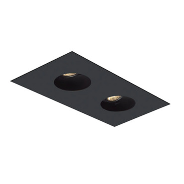 1X2 Round on Square Flanged Trim  by Element by Tech Lighting | EMT12RFF-B